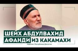 Embedded thumbnail for ШЕЙХ АБДУЛВАХИД АФАНДИ ИЗ КАКАМАХИ. ДАГЕСТАН